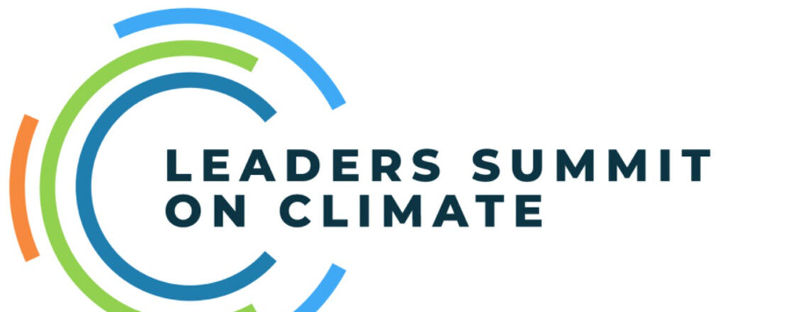 Diplomacy for climate restarts. Logo Leadres Summit on climate