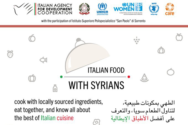 Giordania – Le eccellenze della cucina italiana nei campi rifugiati per consolidare relazioni e progetti