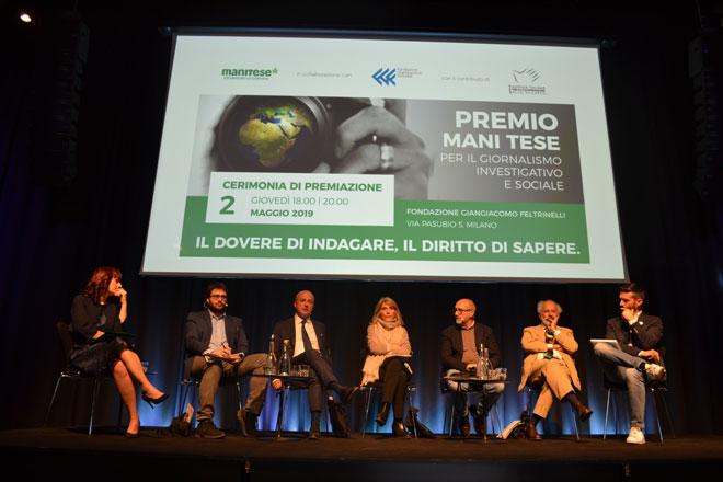 Milano, 2 maggio – Cerimonia di premiazione del Premio Mani Tese per il giornalismo investigativo e sociale, nell'ambito di un progetto di Educazione alla cittadinanza Globale