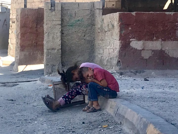 Giordania 2 ottobre 2019: visita del Direttore Luca Maestripieri al campo rifugiati palestinese di Hitteen