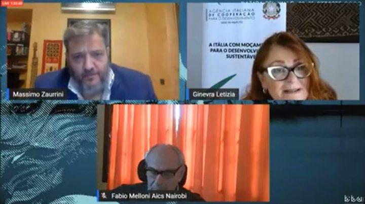"Aics Webinar at ""Blue Sea Land"". Partners listening to Africa"
