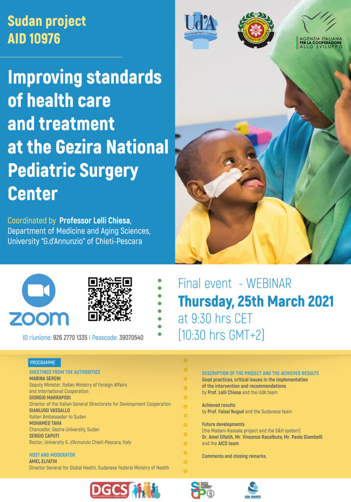 """Closing event of the project """"Improvement of standards of care and treatment in the National Center for Pediatric Surgery in Gezira"""" in Sudan"""